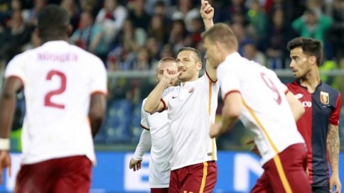 Roma, rimonta di cuore a Genova: ci pensa ancora una volta Totti!