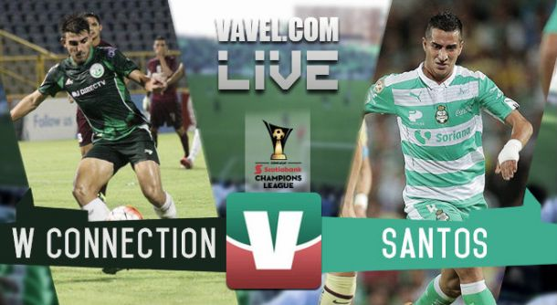 Resultado W Connection - Santos Laguna en Concachampions 2015 (0-1)