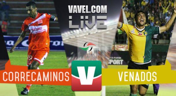 Resultado Correcaminos - Venados Yucatán en Ascenso MX 2015 (1-0)