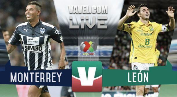 Resultado Rayados Monterrey - León en Liga MX 2015 (4-0)