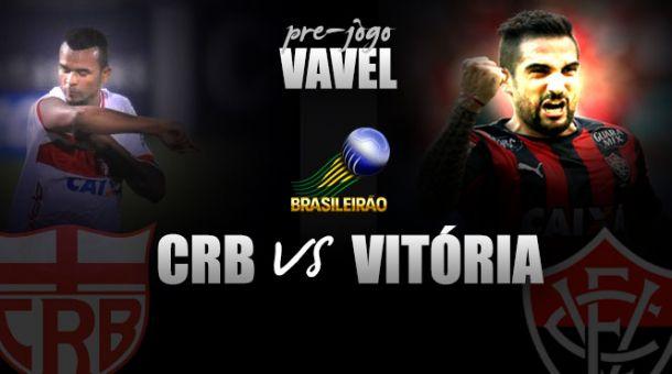 Pré-jogo: Forte em casa, CRB encara vice-líder Vitória em Maceió