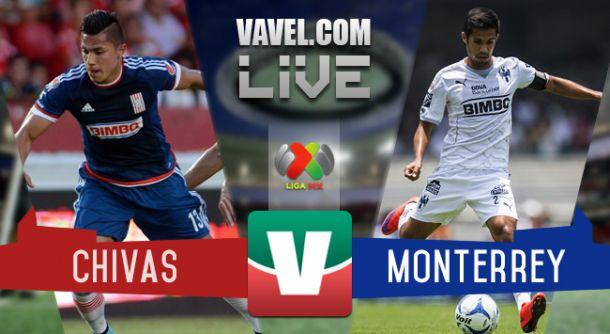 Resultado Chivas - Monterrey en Liga MX (2-1)