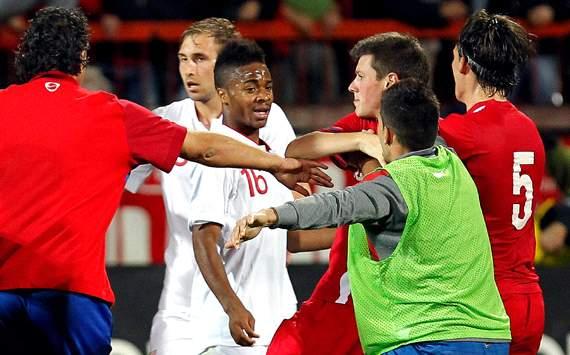 Pelea racial durante el Serbia – Inglaterra sub 21