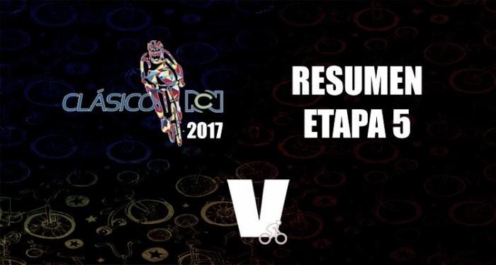 Weimar Roldán ganó la quinta etapa del Clásico RCN y Jonathan Caicedo se mantiene líder
