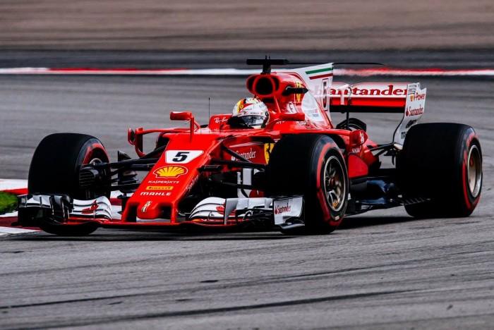 F1 Ferrari- Eroico Vettel rimonta ed è 4°