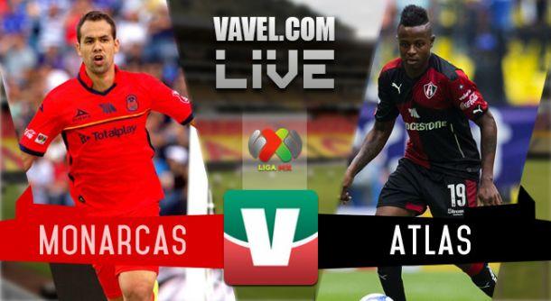 Resultado Monarcas Morelia - Atlas en Liga MX 2015 (0-1)