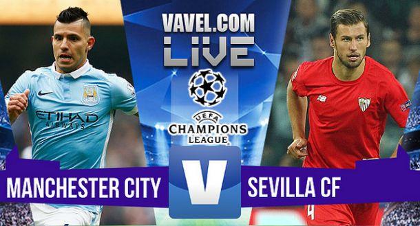 Resultado Manchester City - Sevilla en Champions League 2015 (2-1): De Bruyne sentencia a última hora