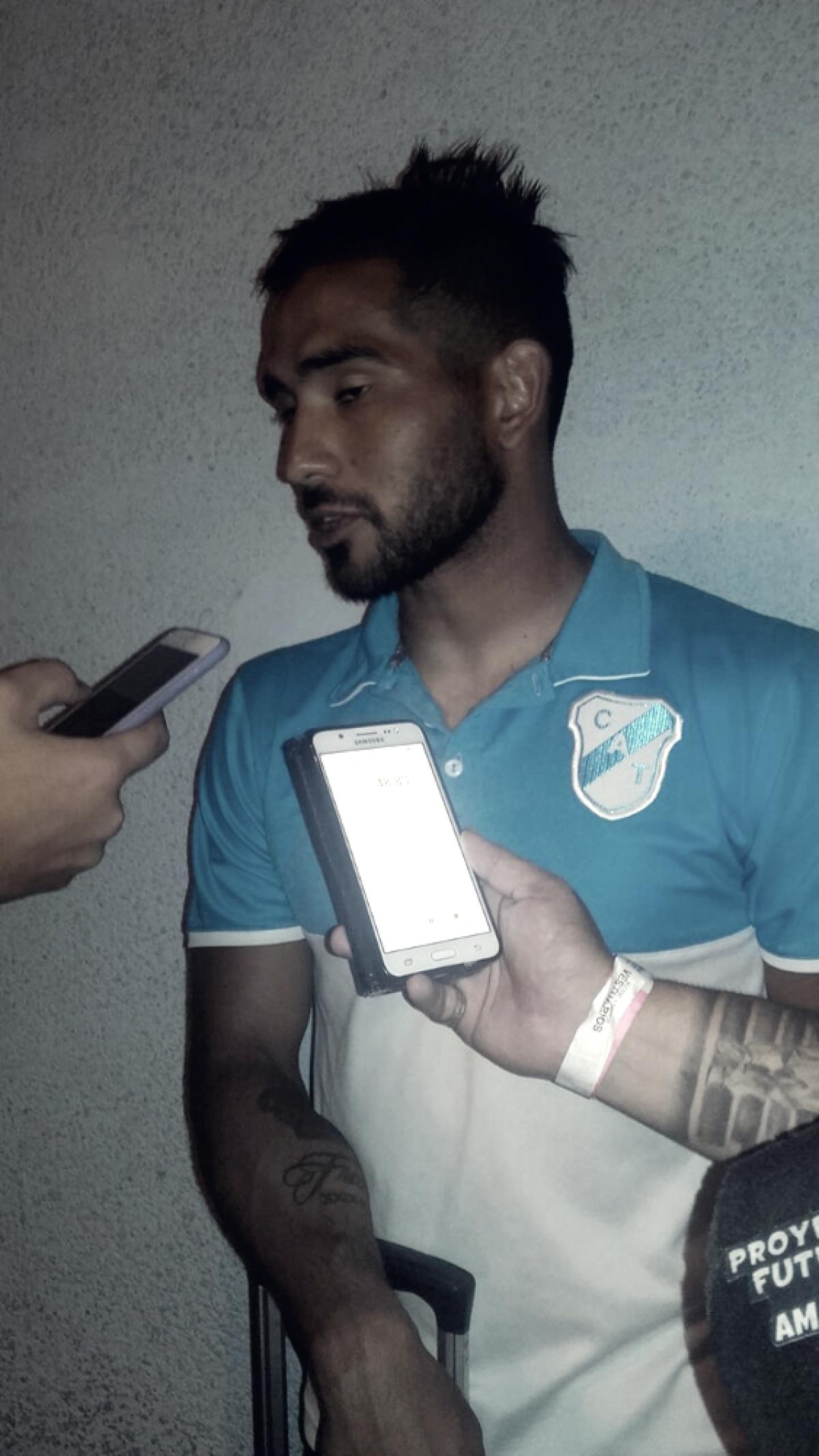 """Marcos Pinto: """"El partido lo planteamos bien, este punto es valioso"""""""