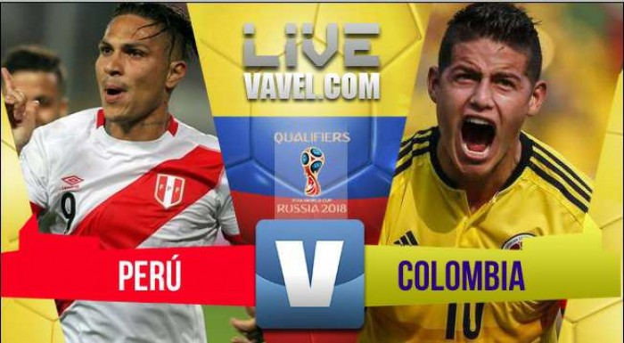 Perú vs Colombia EN VIVO en tiempo real en Eliminatorias Rusia 2018