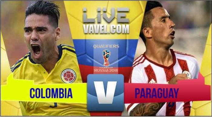 Colombia perdió sobre el final con Paraguay en las Eliminatorias Rusia 2018 (1-2)