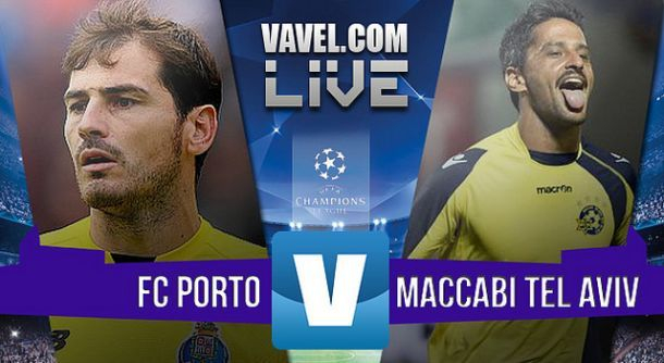 Resultado Porto x Maccabi Telavive na UEFA Liga dos Campeões (2-0)