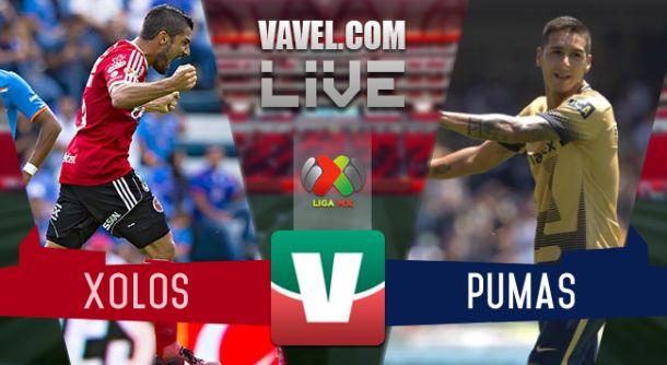 Resultado Xolos Tijuana - Pumas en Liga MX 2015 (1-2)