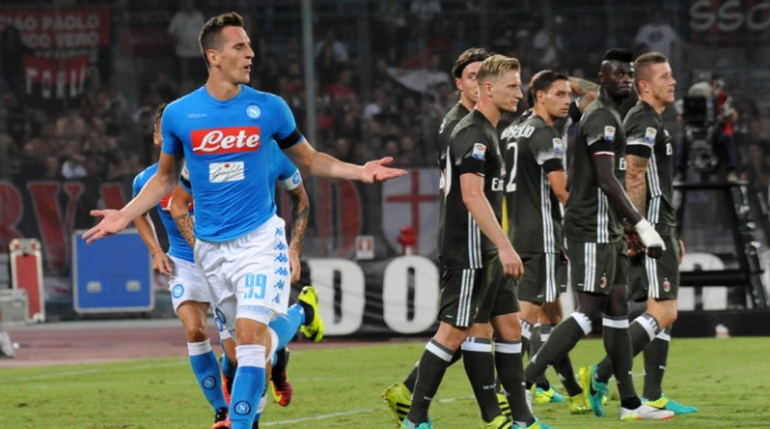 La spunta il Napoli nella battaglia del San Paolo, cade un buon Milan