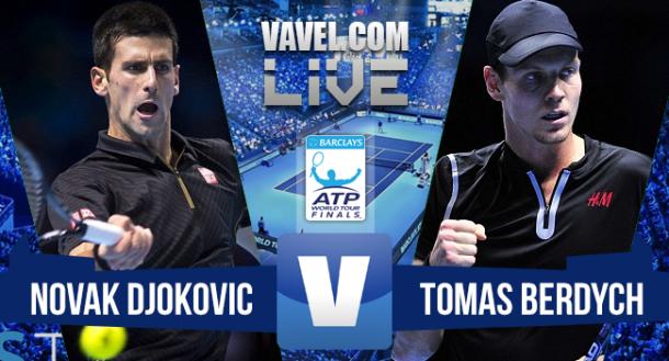 Resultado Novak Djokovic x Tomas Berdych no ATP Finals 2015 (2-0)