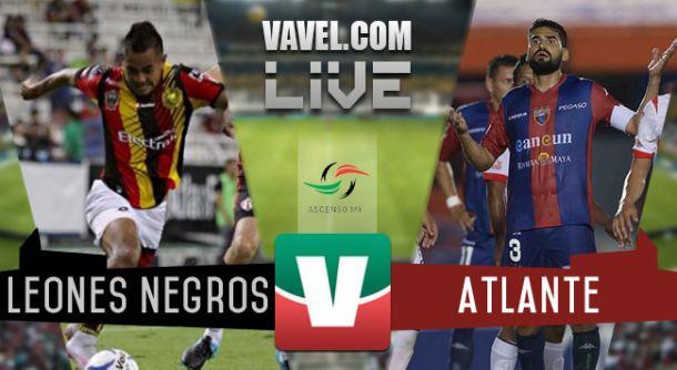 Resultado Leones Negros UDG - Atlante en Ascenso MX 2015 (0-0)