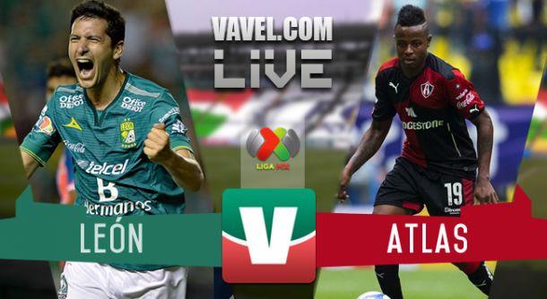 Resultado León - Atlas en Liga MX 2015 (2-1)