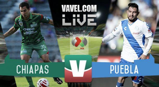 Resultado Jaguares Chiapas - Puebla en Liga MX 2015 (1-0)