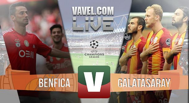 Resultado Benfica x Galatasaray na Liga dos Campeões (2-1)