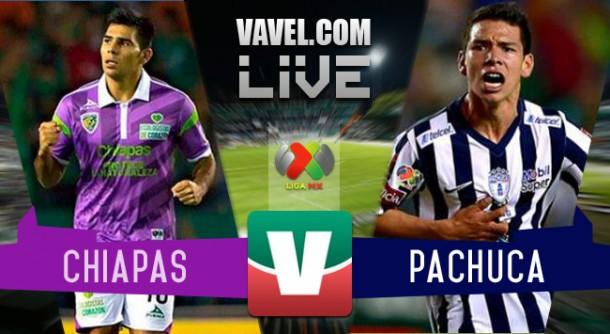 Resultado Jaguares Chiapas - Pachuca en Liga MX 2015 (3-2)