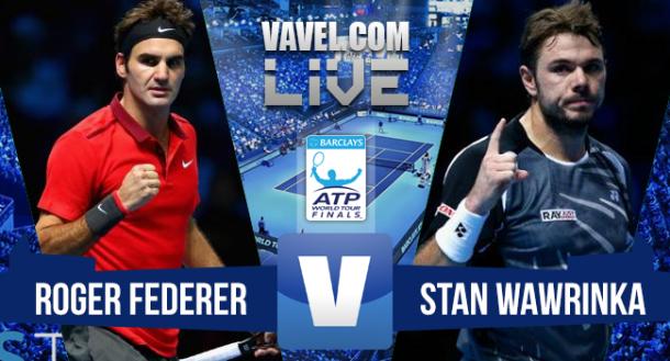Resultado Roger Federer x Stan Wawrinka no ATP Finals 2015 (2-0)
