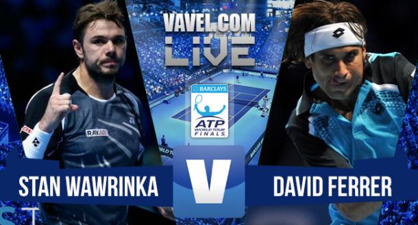 Resultado Stan Wawrinka x David Ferrer no ATP Finals 2015 (2-0)