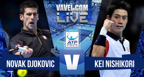 Jogo Novak Djokovic x Kei Nishikori no ATP Finals 2015 (2-0)