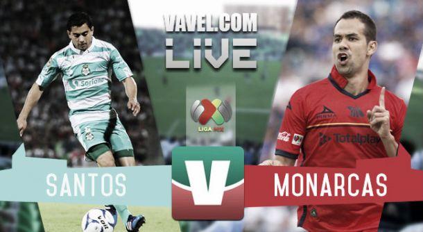 Resultado Santos 2-3 Monarcas en Liga MX 2015