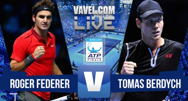 ResultadoRoger Federer x Tomas Berdych no ATP Finals 2015