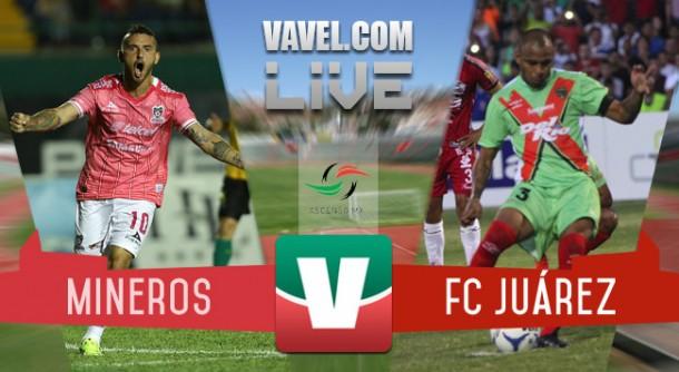 Resultado Mineros Zacatecas vs FC Juárez en Semifinales Ascenso MX 2015 (1-1)