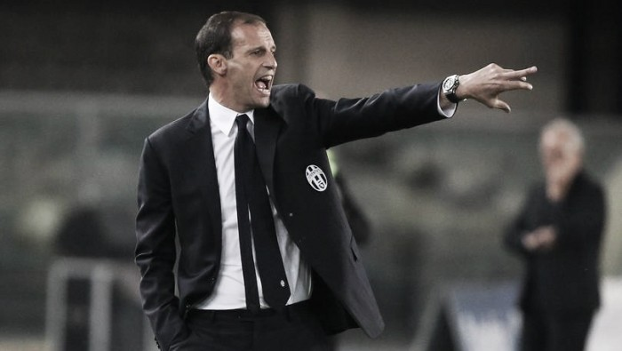 """Allegri não dá grande importância à derrota da Juventus para o Verona: """"Só um passo em falso"""""""