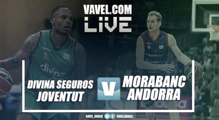 Divina Seguros Joventut vs MoraBanc Andorra en vivo y en directo online en ACB 2017/18 (103-101)