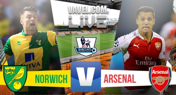 ResultadoNorwich City x Arsenal no Campeonato Inglês 2015/2016
