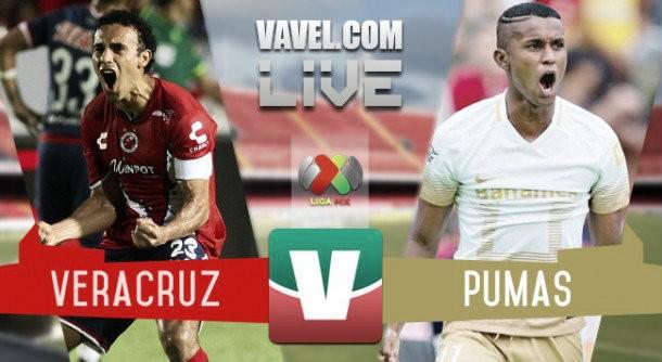 Resultado del Veracruz vs Pumas en vivo (1-0)