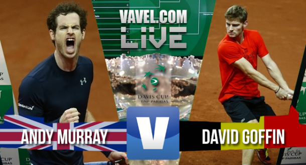 Resultado Andy Murray x David Goffin na Copa Davis 2015