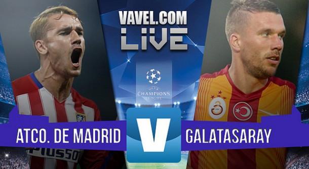 Resultado Atlético de Madrid vs Galatasaray 2015, Champions League en vivo minuto a minuto