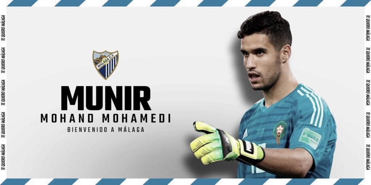 Málaga anuncia goleiro marroquino Munir Mohand como mais um reforço para temporada