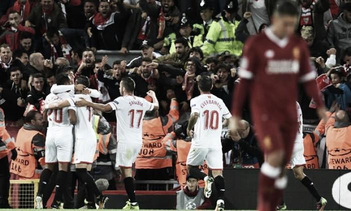 Champions League - Il Siviglia strappa un punto al Liverpool ad Anfield (2-2)