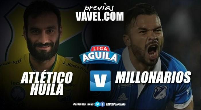 Partido en vivo: Atlético Huila vs Millonarios, Liga Águila