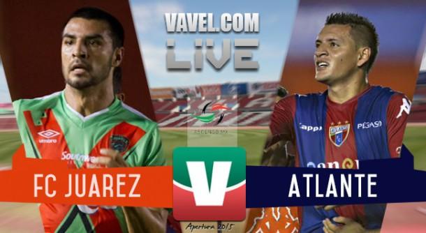 Resultado FC Juárez - Atlante en Final del Ascenso MX 2015 (3-0)