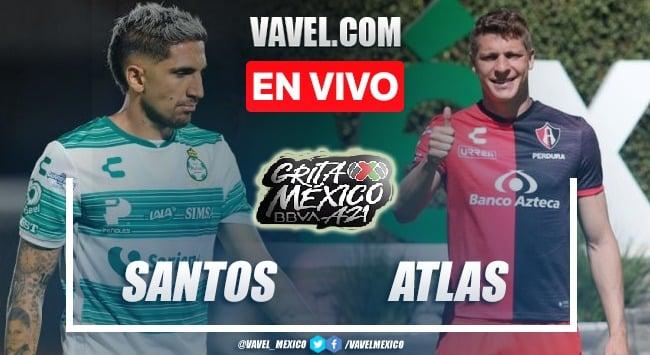 Goles y resumen del Santos 1-1 Atlas en Liga MX 2021