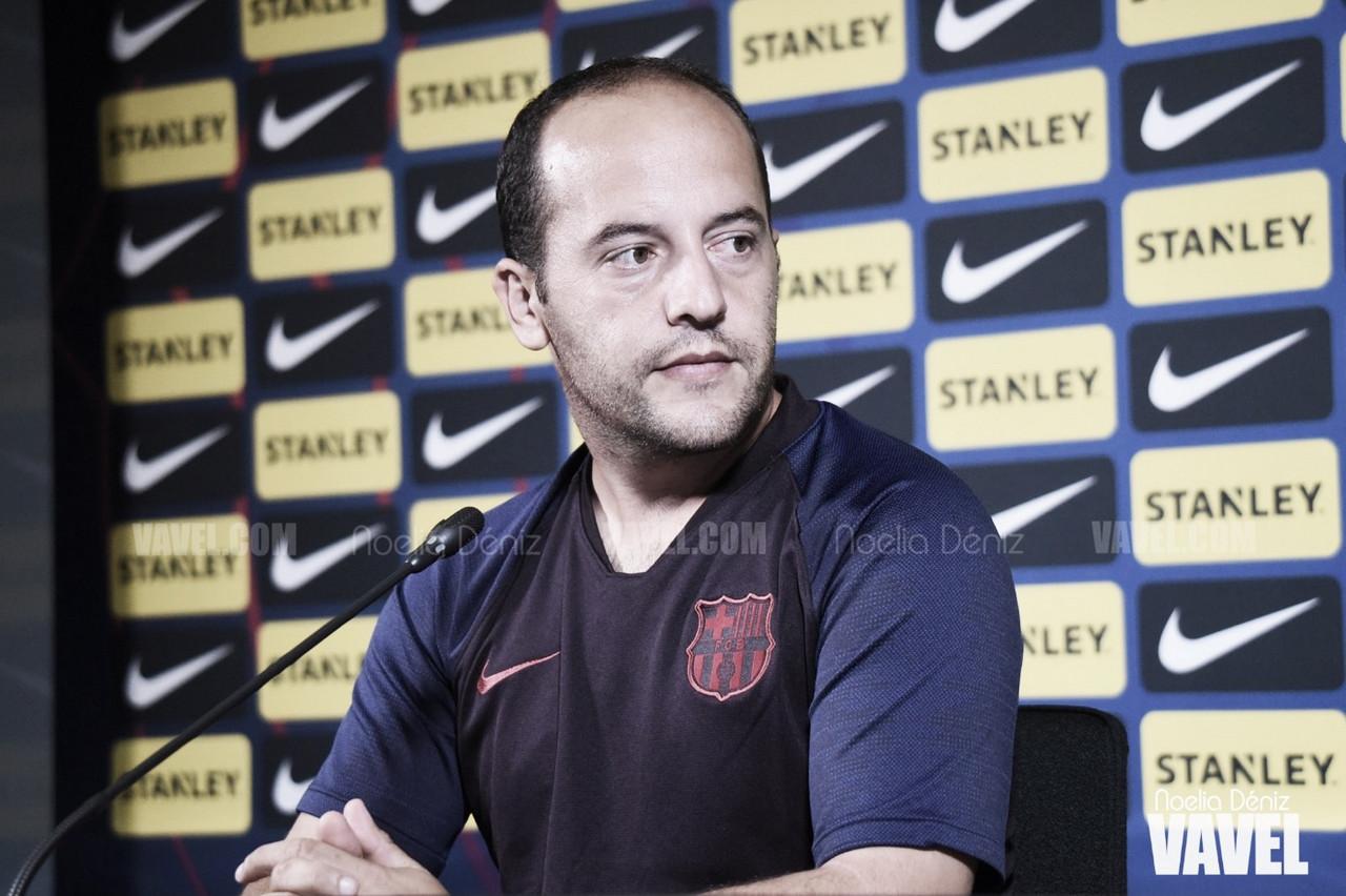 """Lluís Cortés: """"Tenemos un buen equipo y podemos hacer frente a cualquier rival"""""""