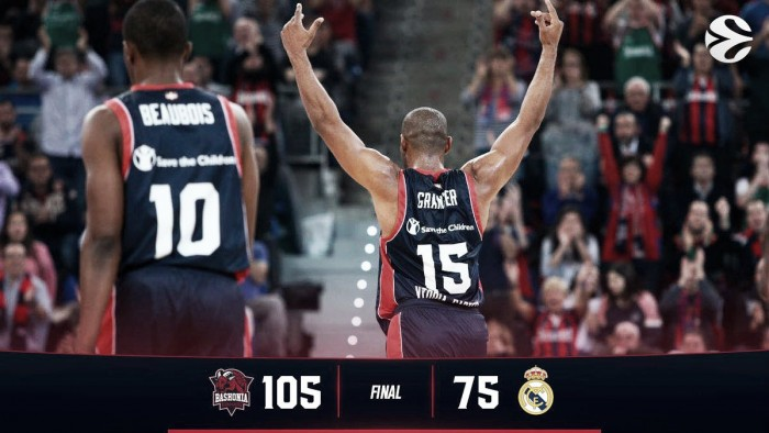 Turkish Airlines EuroLeague - Un Baskonia da oltre cento punti demolisce il Real Madrid (105-75)