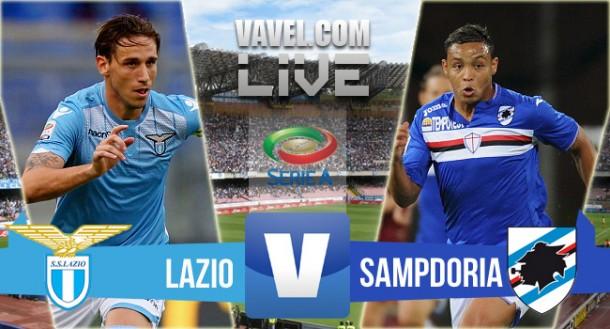 Live Lazio - Sampdoria in Serie A 2015/16 (1-1)