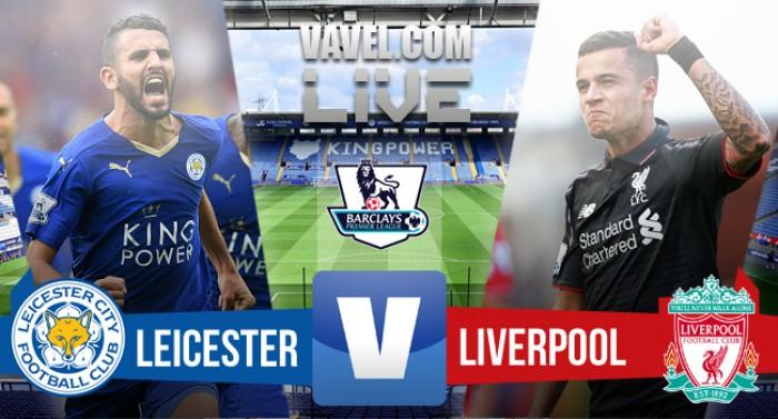 Resultado Leicester City x Liverpool no Campeonato Inglês 2015/2016 (2-0)