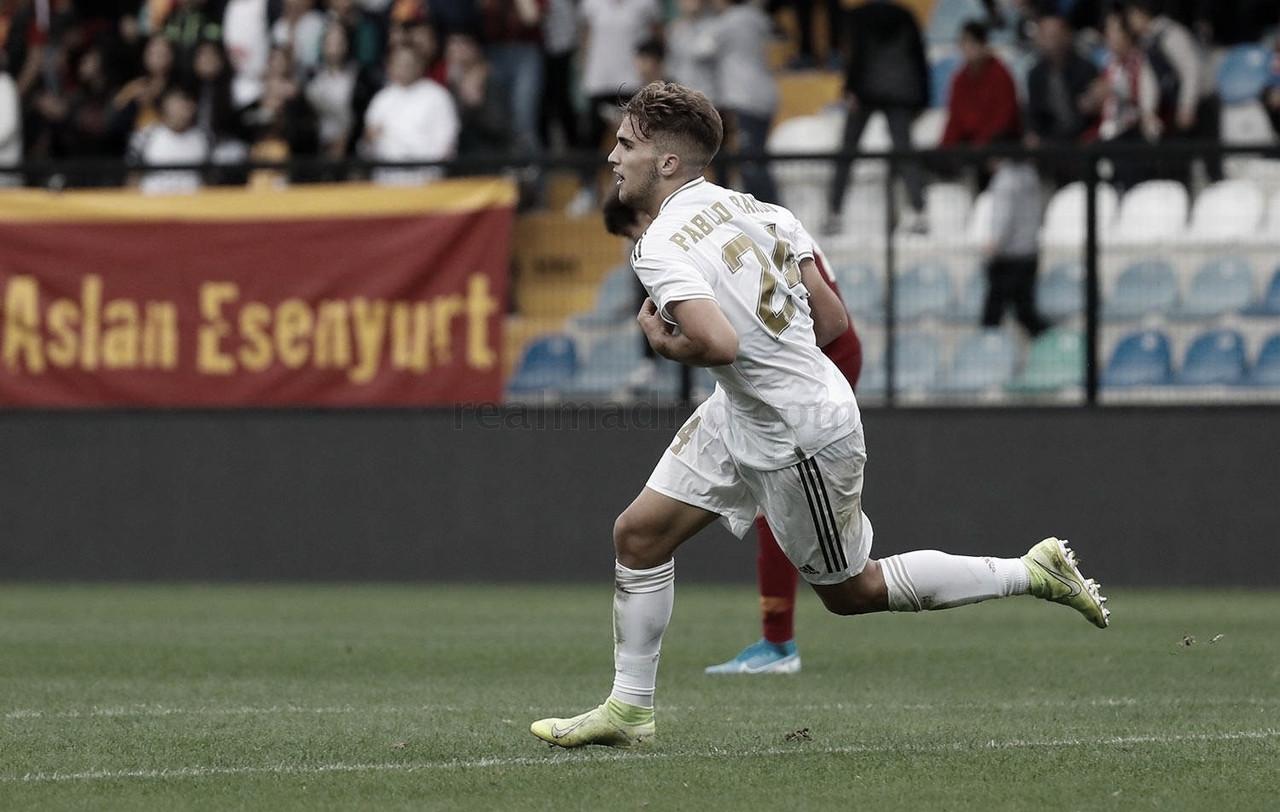Pablo Ramón anotó un solitario gol en la UEFA Youth League ante el Galatasaray | Fuente: www.realmadrid.com