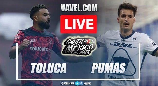 Goals and Highlights: Toluca 2-1 Pumas in Liga MX 2021