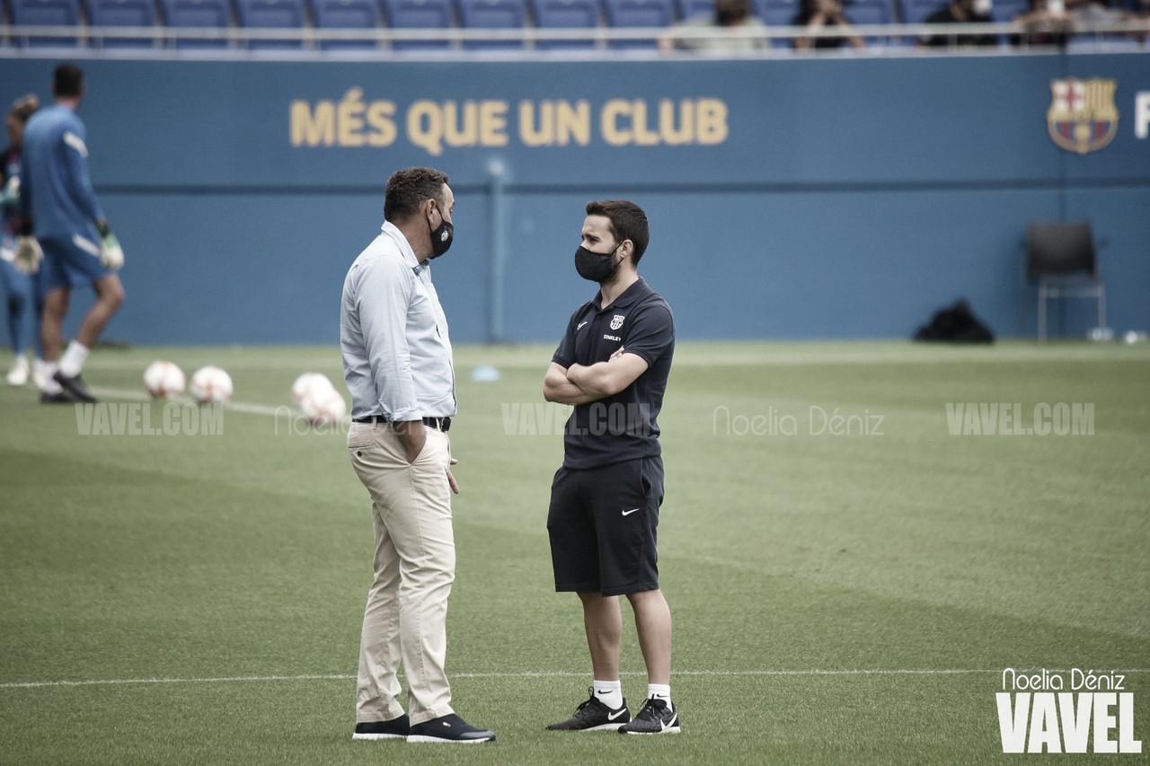 """Jonatan Giráldez: """"Tenemos el deseo de que el Johan Cruyff se vuelva a llenar"""""""