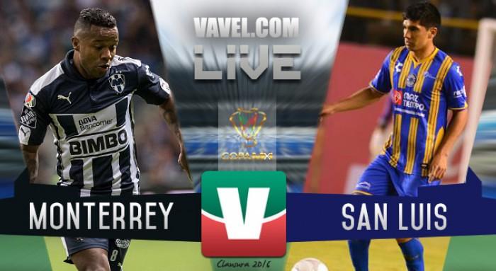 a4e8b13cf3f74 Resultado Rayados Monterrey - Atlético San Luis en Copa MX 2016 (0-1 ...