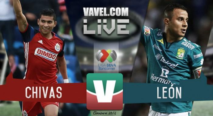 Resultado Chivas vs León en Liga MX 2016 (0-1)