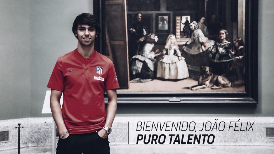 Atlético de Madrid anuncia contratação de João Félix